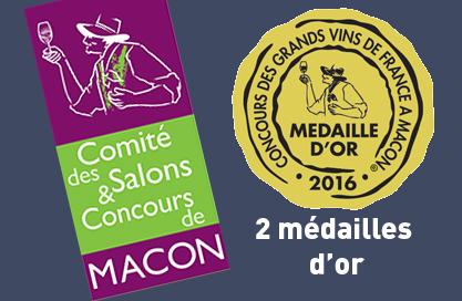 2 médailles d'or au concours des vins de Mâcon 2016 : le rosé 2015 et la Méthode Gaillacoise demi-sec